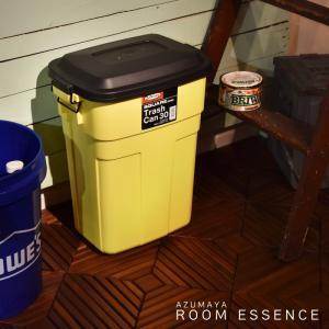 東谷 トラッシュカン 30L ゴミ箱 屋外用ダストボックス ペールボックス 収納ボックス ふた付 イエロー(L-941Y)|kurashikan