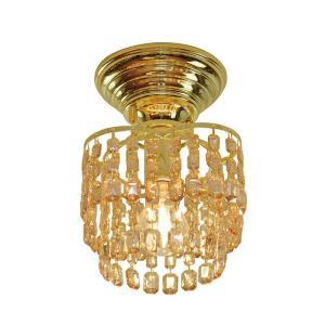 シーリングライト LED対応 アンバー クリスタルガラス 1灯 ライト リビング おしゃれ キラキラ 北欧 インテリア照明 (メーカー直送、代金引き不可)|kurashikan