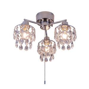 シーリングライト LED対応 クリスタルガラス 3灯 ライト シャンデリアライト リビング おしゃれ キラキラ 北欧 インテリア照明 (メーカー直送、代金引き不可)|kurashikan