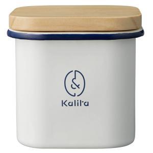 &カリタ キャニスター 角型 ウッド ホーロー kalita カリタ コーヒー 珈琲 密封 容器 保存容器 おしゃれ シンプル|kurashikan