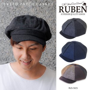 Ruben TWEED PATCH CASKET ルーベン ツイード パッチ キャスケット メンズ キャスケット レディース キャスケット帽 帽子 パッチワーク|kurashikan