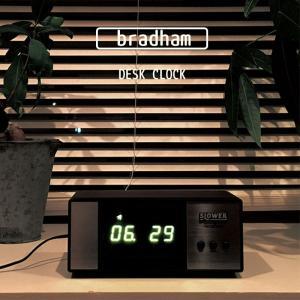 slower 置時計 デスククロック 時計 LED表示 bradham ブラハム おしゃれ デザイン 卓上 玄関 リビング 新築祝い インテリア ギフト SLW128|kurashikan