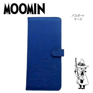ムーミン MOOMIN パスポートケース スエード調 ブルー スナフキン トラベルグッズ パスポートホルダー かわいい キャラクター グッズ|kurashikan