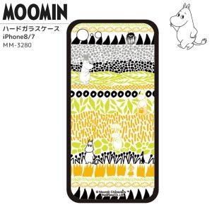ムーミン iPhoneカバー iPhone7 iPhone8 ハードガラスケース 背面ガラス 強化ガラス MOOMIN ミイ ムーミンパパ ムーミンママ キャラクター グッズ kurashikan