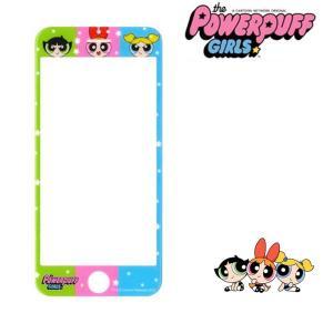 パワーパフガールズ 液晶保護 ガラスフィルム iPhone6 iPhone6s iPhone7 iPhone8 液晶保護フィルム 液晶ガラス かわいい キャラクター グッズ|kurashikan