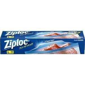 旭化成ホームプロダクツ Ziploc(ジップロック) フリーザーバッグ L ( 10枚 ) <オープ...