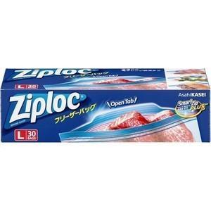 旭化成ホームプロダクツ Ziploc(ジップロック) フリーザーバッグ L ( 30枚 ) <オープ...