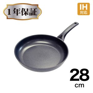 IHアノダイズコーティング フライパン 28cm|kurashiya
