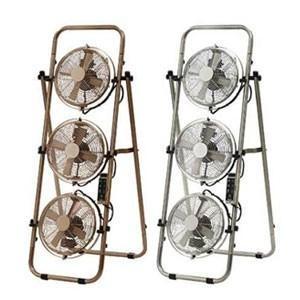 扇風機 PR-F007 PRISMATE メタルトリプルファン 8インチ リモコン付 サーキュレーター 三連 おしゃれ|kurashiya