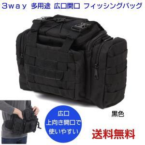 i-loop 正規品 大容量 多機能 防水 3WAY フィッシングバッグ エギングバッグ 手持ち  ショルダー ウエスト 使い方多彩の ウェストバッグ 色 ブラック|kurasupe