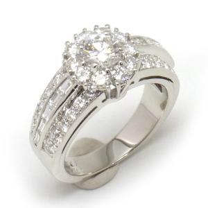 【送料無料】ヴァンクリーフ VCA ダイヤモンドリング #49 9号  WG・センターダイヤ0.485ct 美品 【4SB0552】|kurata7