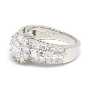 【送料無料】ヴァンクリーフ VCA ダイヤモンドリング #49 9号  WG・センターダイヤ0.485ct 美品 【4SB0552】 kurata7 03