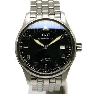 【送料無料】IWC マークXV マーク15 自動巻き 黒文字盤 パイロットウォッチ 人気シリーズ【8SA0128】|kurata7