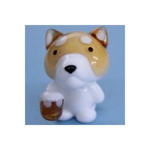 ガラス細工 カンパイ犬    クリアジェルキャンドル|kuraudo