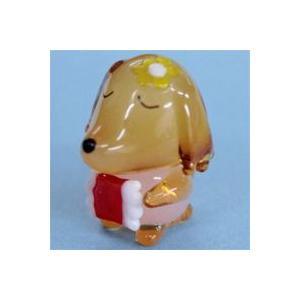 ガラス細工 おやすみ犬    クリアジェルキャンドル|kuraudo