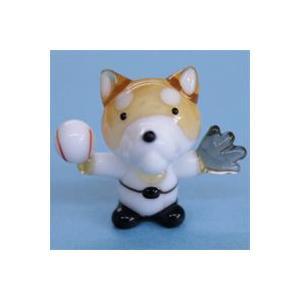 ガラス細工 野球犬    クリアジェルキャンドル|kuraudo