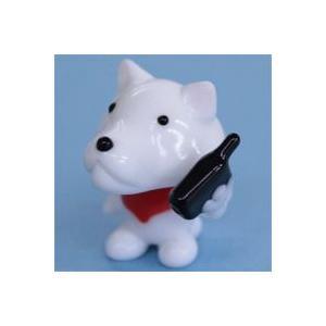 ガラス細工 犬(携帯電話)    クリアジェルキャンドル|kuraudo
