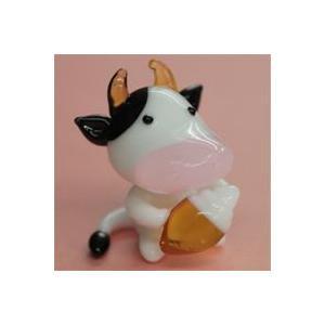 ガラス細工 ソフトクリームを食べるうし    クリアジェルキャンドル|kuraudo