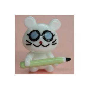 ガラス細工 がりべんマウス    クリアジェルキャンドル|kuraudo