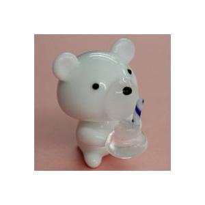 ガラス細工 白くま(アイス)    クリアジェルキャンドル|kuraudo