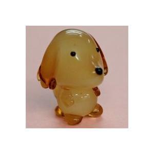 ガラス細工 犬(二本立)    クリアジェルキャンドル|kuraudo