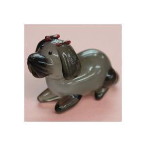 ガラス細工 犬(リボン)    クリアジェルキャンドル|kuraudo