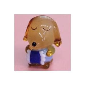 ガラス細工 おやすみ犬(オス)    クリアジェルキャンドル|kuraudo