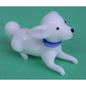 ガラス細工 犬(伏せ)3    クリアジェルキャンドル|kuraudo