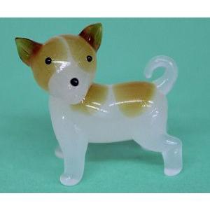 ガラス細工 犬(横向き)    クリアジェルキャンドル|kuraudo
