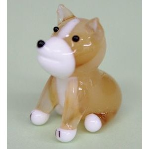 ガラス細工 犬(おすわり)    クリアジェルキャンドル|kuraudo