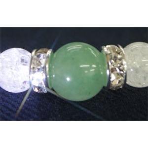 【視力回復】繁栄の石 グリーンアベンチュリン10mm(内径14〜20cm) ブレスレット【5月誕生石】/パワーストーン/天然石|kuraudo