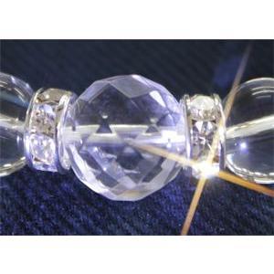 オールラウンドパワーを持つ神秘の石 64面カットクリスタル(水晶)12mm(内径14〜20cm) ブレスレット【4月誕生石】/パワーストーン/天然石|kuraudo
