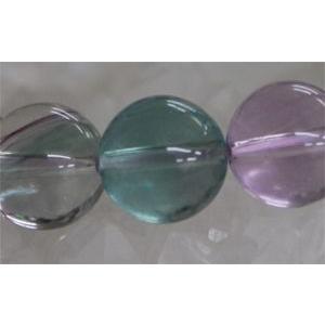 『天才の石』と称されるパワーストーン フローライト10mm(内径14〜20cm) ブレスレット/パワーストーン/天然石|kuraudo