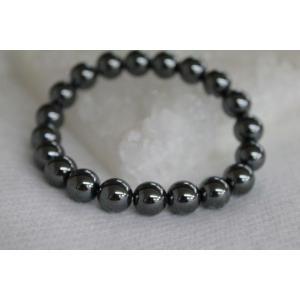 黒ダイヤと呼ばれる宝石 ヘマタイト10mm ブレスレット/パワーストーン/天然石 kuraudo 02