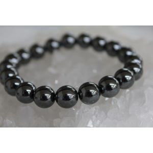 黒ダイヤと呼ばれる宝石 ヘマタイト10mm ブレスレット/パワーストーン/天然石 kuraudo 03