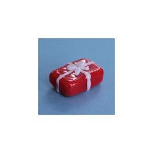 I-19 クリアキャンドル用 ガラス細工 プレゼントR(長方形)    クリアジェルキャンドル|kuraudo