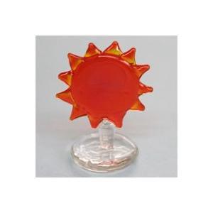 I-31 クリアキャンドル用 ガラス細工 太陽(台付)    クリアジェルキャンドル|kuraudo