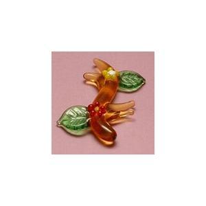 S-1 クリアキャンドル用 ガラス細工 小枝の花    クリアジェルキャンドル|kuraudo