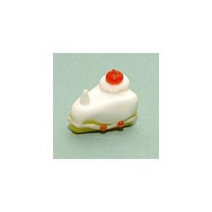 T-11 クリアキャンドル用 ガラス細工 ショートケーキ    クリアジェルキャンドル|kuraudo
