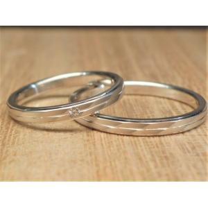マリッジリング 結婚指輪 PT999  ペアリング ウルトラハードプラチナ パイロットジュエリー ロ...