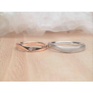 マリッジリング 結婚指輪 ペアリング K18 WG