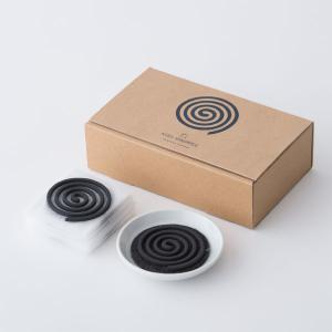 くすのき香 10巻+不燃マット付香皿セット / KUSU HANDMADE|kurazen