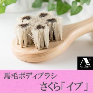 浅草アートブラシ 馬毛ボディブラシ さくら イブ(ブラシクリーナー付)|kurazo