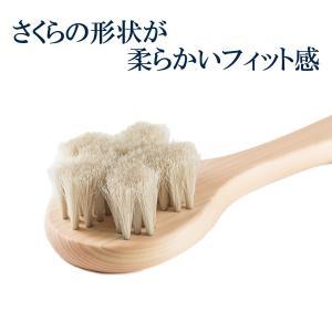 浅草アートブラシ 白馬毛ボディブラシ さくら クレオパトラ(ブラシクリーナー付)|kurazo|03