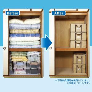圧縮プラス ふとん用 4箱 圧縮袋 in BOX‐圧縮Plus 圧縮袋+収納ケース 一体型 布団 洋服 逆止弁 掃除機〈送料無料〉|kurazo|04