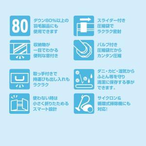 圧縮プラス ふとん用 4箱 圧縮袋 in BOX‐圧縮Plus 圧縮袋+収納ケース 一体型 布団 洋服 逆止弁 掃除機〈送料無料〉|kurazo|05