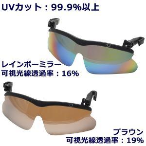 帽子につける 偏光サングラス-クリップ式サングラス UVカット 紫外線99%カット 跳ね上げ ワンタッチ キャップグラス 装着式 釣り テニス ゴルフ|kurazo|02
