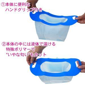 Goodパック ハンディタイプ 700ml 5個組‐簡易トイレ 携帯トイレ 万能トイレ グッドバック|kurazo|02