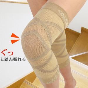 花柄 着圧 膝サポーター 2枚組(1足分)日本製‐テーピング メッシュ 薄手 ロング 保温 冷え性 手洗い 通気性 蒸れにくい 体圧分散|kurazo|05