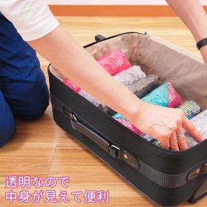 衣類圧縮袋 8枚セット Lサイズ 旅行 トラベル 逆止弁付き 手押し 日本製 巻くだけ 押すだけ 衣類収納袋 圧縮袋 海外旅行 国内旅行|kurazo|08